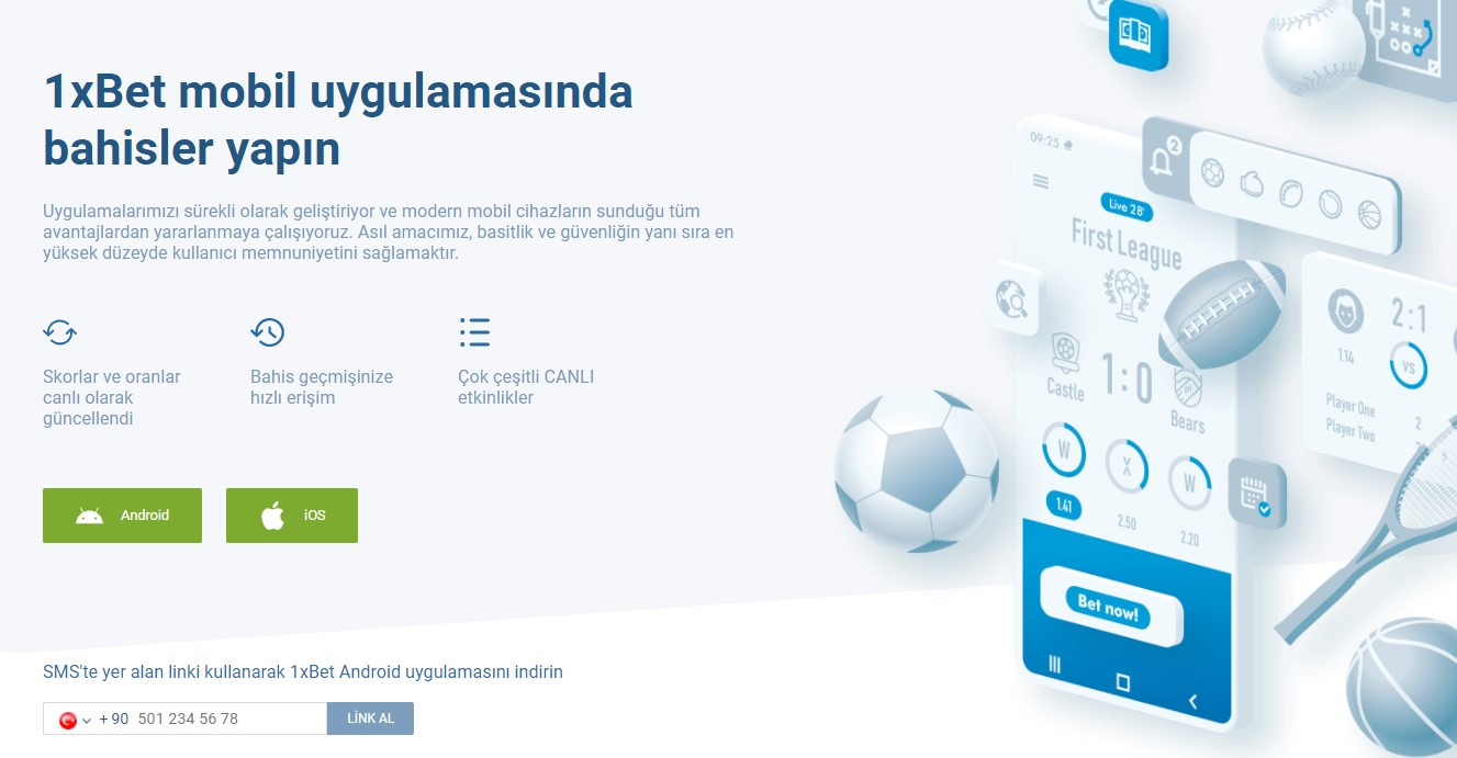1xbet mobil android